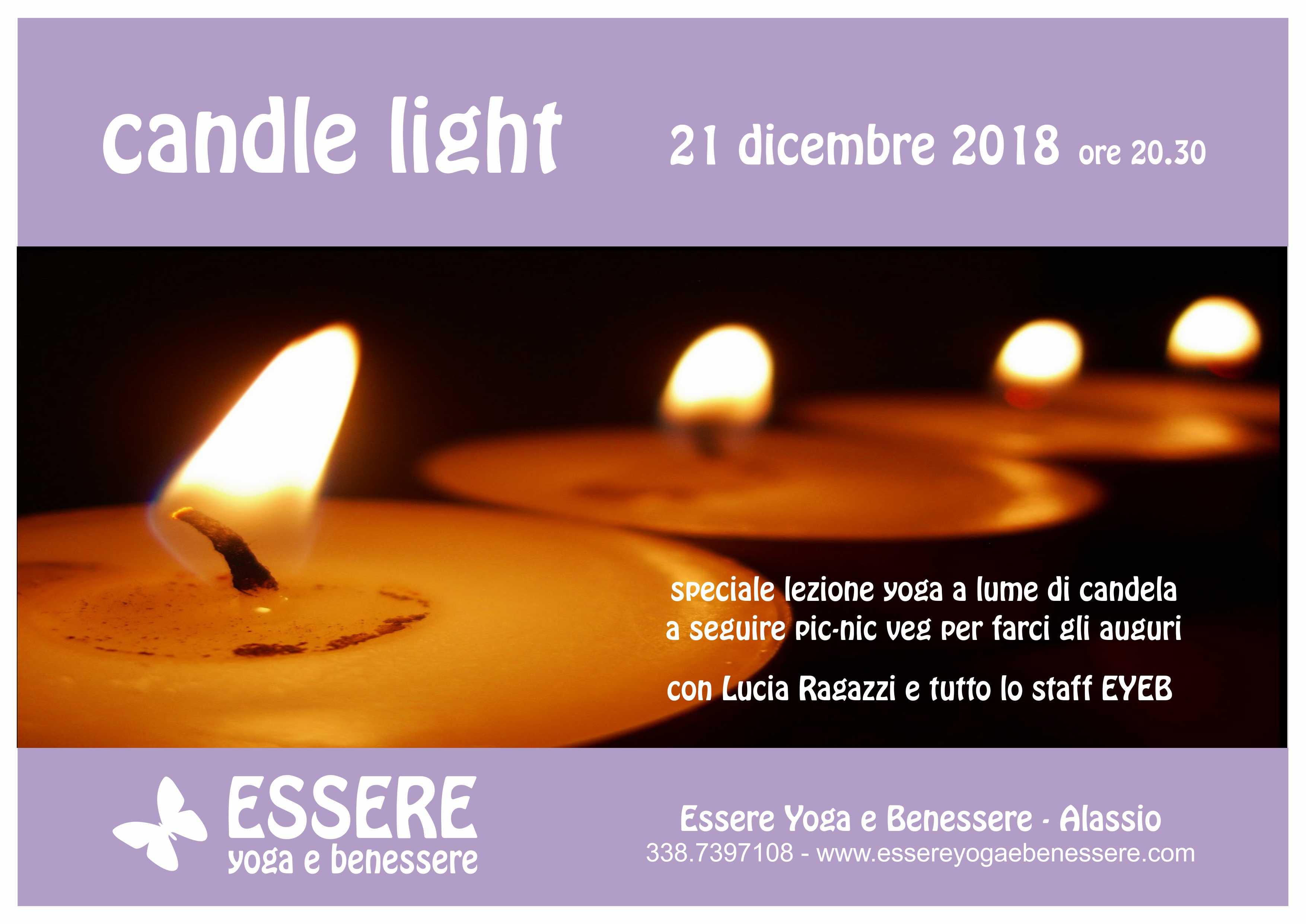 Auguri Di Natale Yoga.Candle Light Essere Yoga E Benessere Alassio