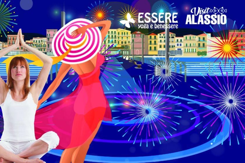 essere - free - yoga - gratuito - benessere - per tutti - village - citta - alassio - estate - lucia ragazzi - ferragosto - yogico - marcella fiore - summer - town - wellness